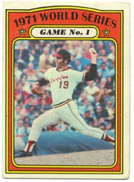 1972 Topps Baseball Cards      223     Dave McNally WS